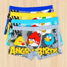 Children Underwear Boys Panties 2016 New Kids Cartoon Bird Boys Boxer Kids Short Brief 4 Pcs/Lot