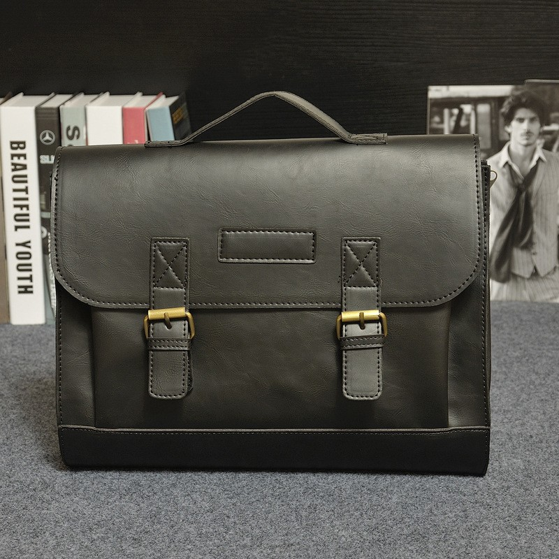 Vintage Men Business Real Genuine Leather Briefcase Travel Causal Shoulder Messenger Portfolio Laptop Bags Lawer Handbag Bolsa (20)