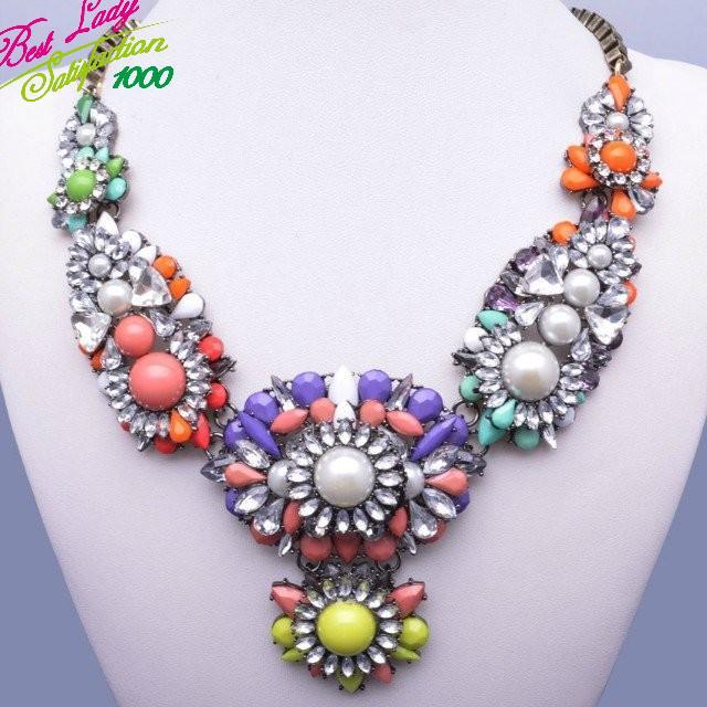 2015 три цвета новое поступление Shourouk себе CrystalGem мода ворота чокеровщика большой бренд ожерелье для роскошные выдолбите женщин 8110