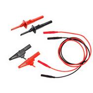 Multimeter test lead set of wires hook clip alligator clip black red<br><br>Aliexpress