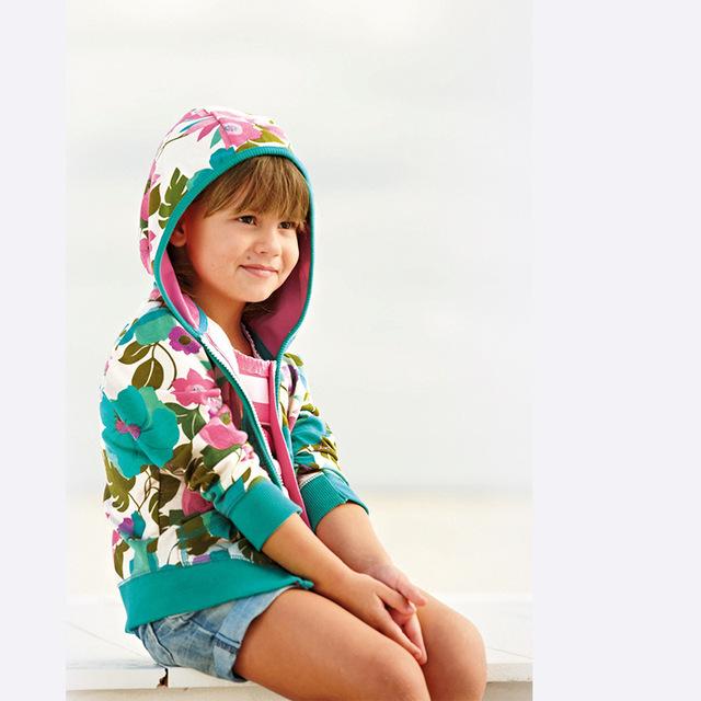 Новый 2016 детские весна осень толстовки кофты мода цветочные новорожденных девочек ...