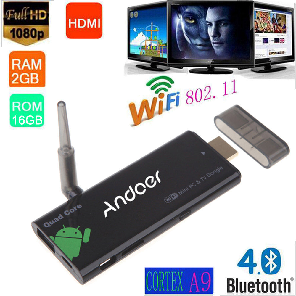 Android 4.4 TV Stick Box 2G/16G RK3188T CX919 Quad-core Cortex A9 tv dongle 1080P XBMC DLAN External Mini PC WiFi TV Antenna(China (Mainland))