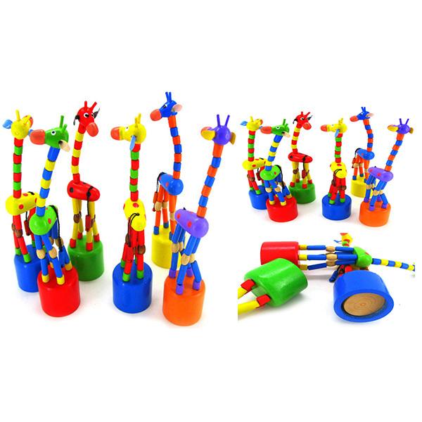 Гаджет  HOT Sale Kids Intelligence Toy Dancing Stand Cute Colorful Rocking Giraffe Baby Wood Toys Free Shipping & Drop Shipping None Игрушки и Хобби