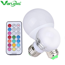 New RGBW E27 LED Bulb 5W 10W Dimmable LED Lamp 220V 110V Pure White RGB Spot Light with Dimmer Remote Controller(China (Mainland))