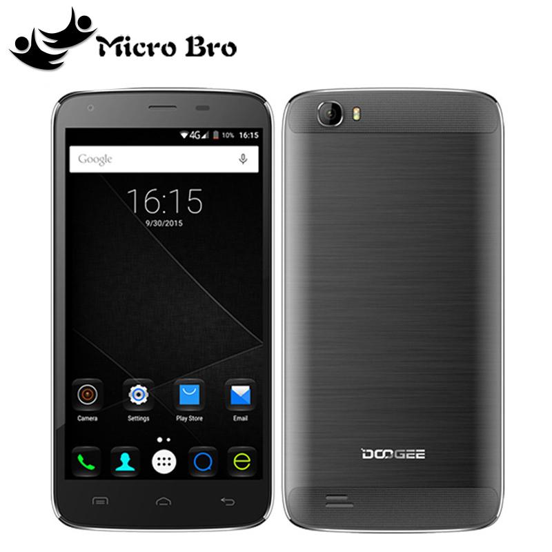 "New Original Doogee T6 5.5""HD 6000mAh Battery 4G LTE Mobile Phone MTK6735P Quad Core 2GB RAM 16GB ROM Android 5.1 13MP Dual SIM(China (Mainland))"
