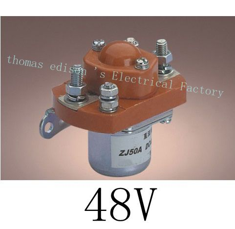 ZJ50A NO (normally open) style Coil Voltage 48V 50A DC Contactor for motor forklift electromobile grab wehicle car winch<br><br>Aliexpress