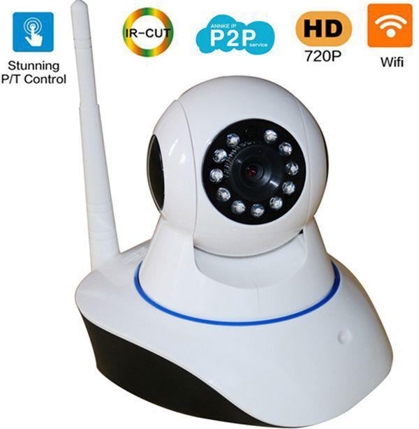 Hot 720P HD 802.11b/g wireless P2P network ip camera wifi camera IR Outdoor Waterproof security camera work with alarm sensor(China (Mainland))