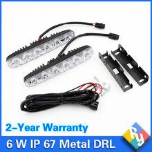 2016 NEW 12v 6w LED Daytime Running Light Waterproof Universal DRL Kit Day Light Auto Driving Light External Light Car styling(China (Mainland))