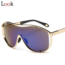 Steampunk Sports Oversized Sunglasses Zonnebril Colorful