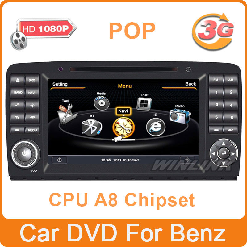 Car DVD Radio GPS for Mercedes Benz R Class W251 R280 R300 R320 R350 R500 Support 3G WiFi 1080P DVR Optional S100 1G CPU 512Mb(China (Mainland))