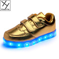 2016 Fashion Boy s LED Light Skating Shoes USB Charge Casual Sport Sneakers For Children
