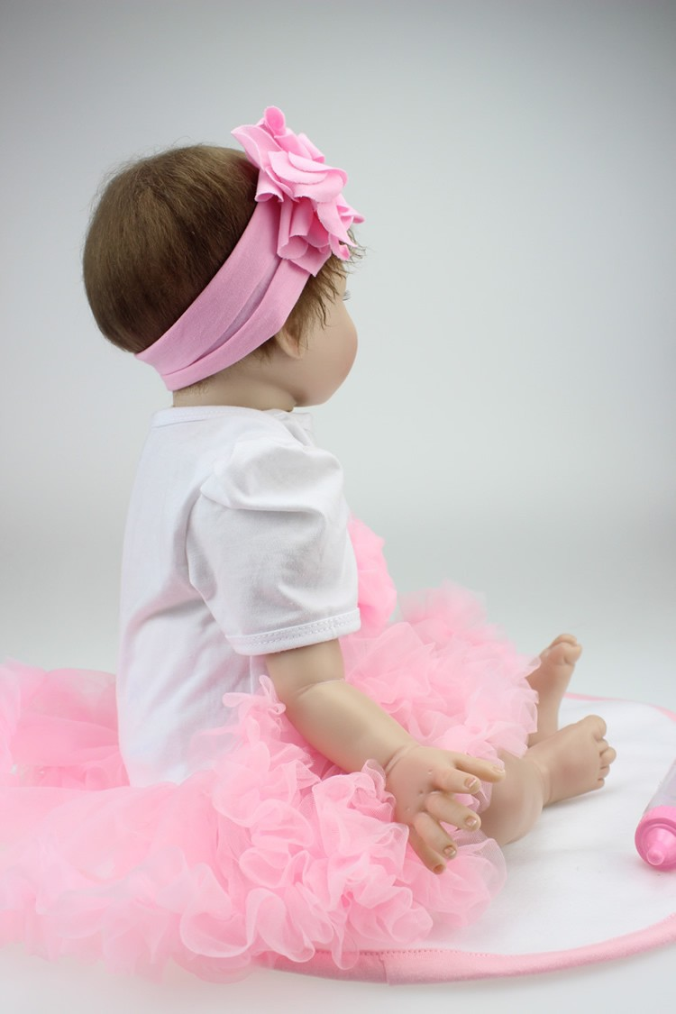 22 Inches Vinyl Silicone Reborn infants Dolls Handmade Youngsters Hobbies smooth Lifelike Child doll Princess Kawaii infants alive Toys