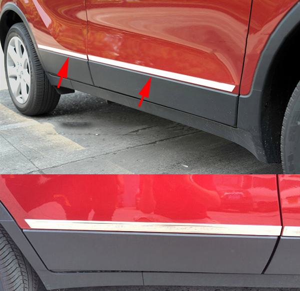 FIT FOR OPEL VAUXHALL MOKKA BUICK ENCORE CHROME BODY MOLDING DOOR SIDE LINE GARNISH TRIM COVER PROTECTOR GUARD LINING STRIP(China (Mainland))