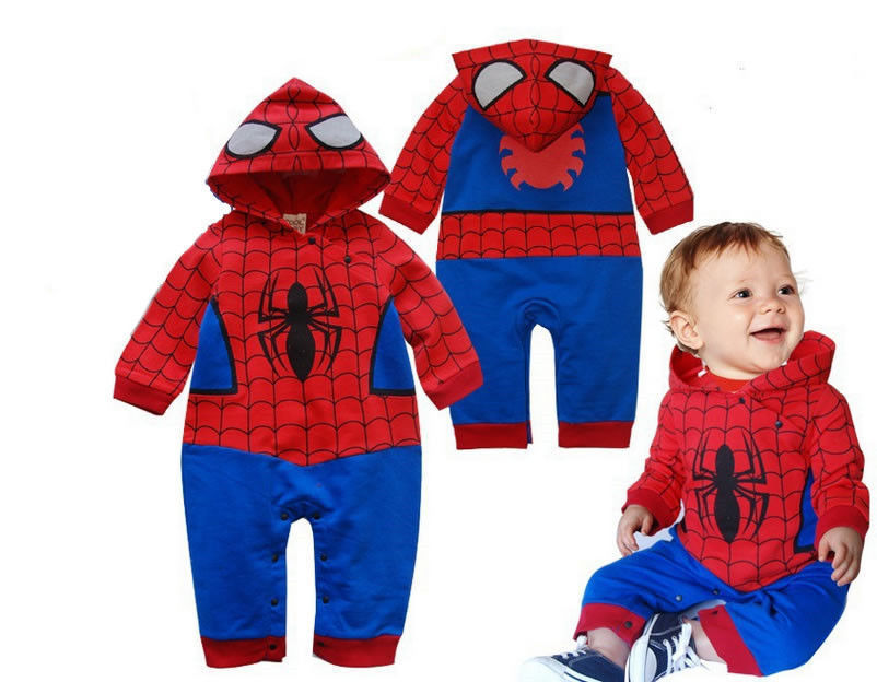 Boy Clothes Baby Romper Infant Newborn Jumpsuit Spiderman Outfits Clothing Sets Baby Boys Romper Infant Girl Cartoon Halloween(China (Mainland))