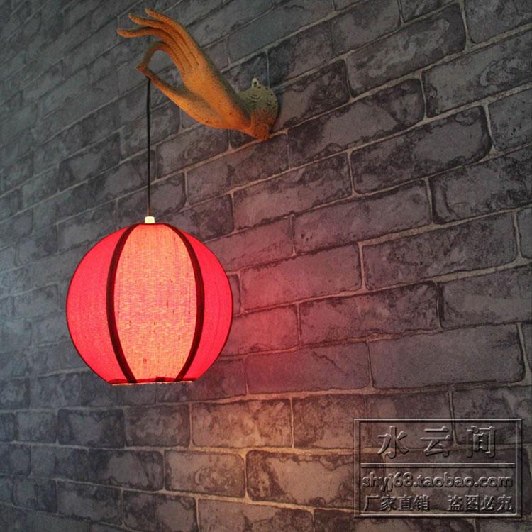 S Ethnic Chinese antique wall lamp retro Chinese style lantern lighting furniture bergamot corridor balcony decorations(China (Mainland))