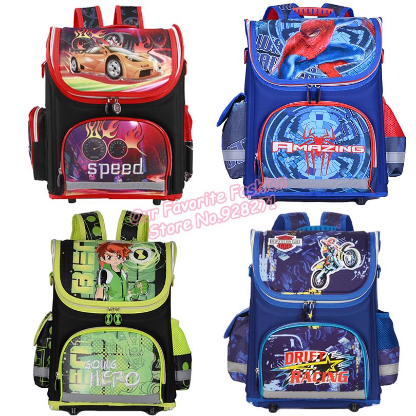 Spiderman Cars Boys School Bags Orthopedic Ben 10 Children Schoolbags for Boys Backpack Monster High Male Kids Mochila Infantil(China (Mainland))