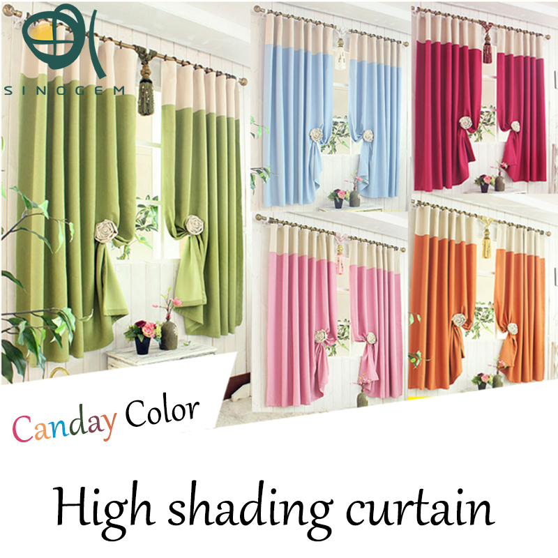 Promotion!New style 1 pc Eco-friendly thicken black out finished short curtain for living room can customized,good quality(China (Mainland))
