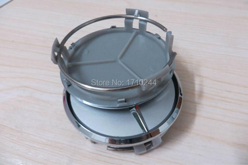 For mercedes benz 100pcs 75mm black silver wheel center for Mercedes benz wheel cap emblem