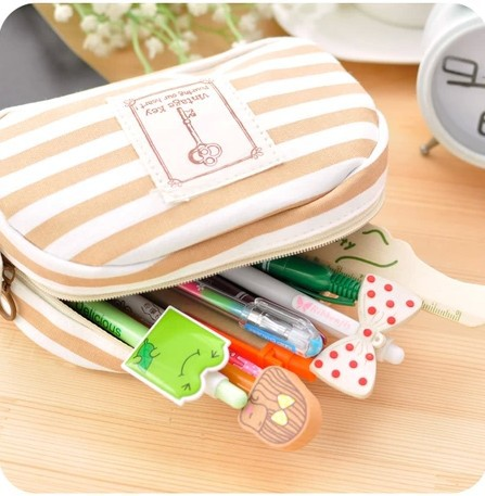 Travel Portable Navy Cross Stripes Cosmetic Bag Make up Toiletry Holder Pencil Pouch Beauty Wash Bags Storage Purse<br><br>Aliexpress
