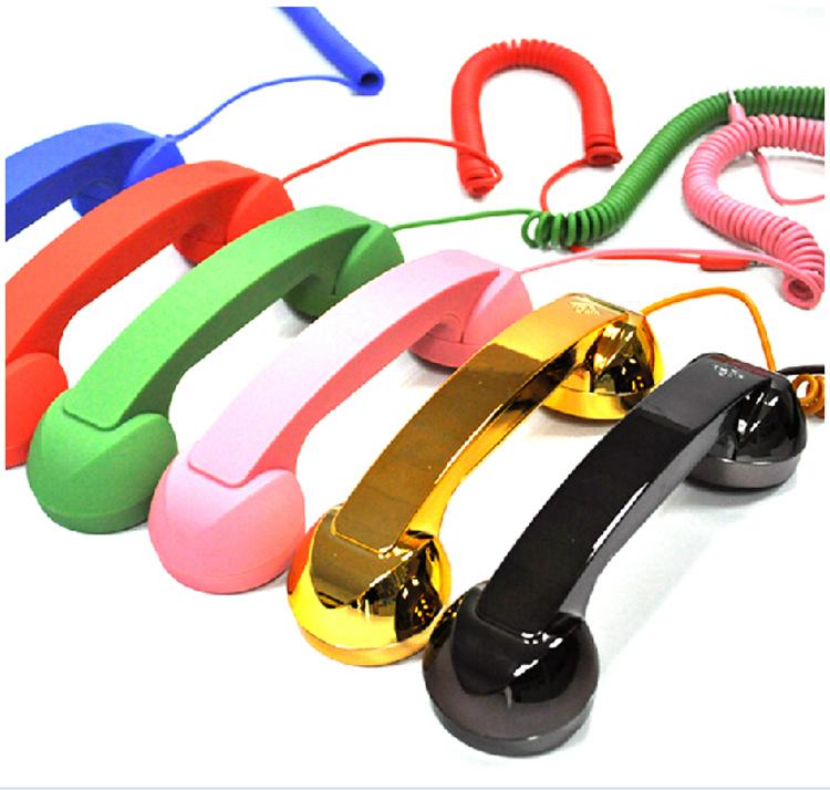 Classical Creative POP Phone Mic 3.5mm Jack Retro Phone handset Earphone for iPhone/Samsung/HTC Portable Telephone Free Shipping(China (Mainland))