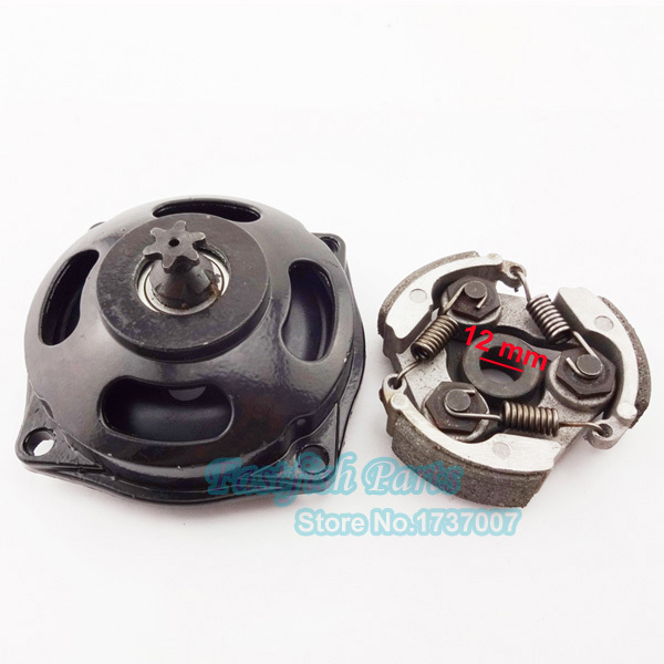 25H 6T Gear Box Drum & Clutch without Keyway For 47cc 49cc Mini ATV Pocket Dirt Bike Motorcycle(China (Mainland))