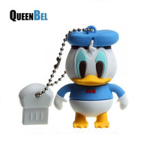 cartoon donald duck pen drive usb flash drive memory stick 4gb 8gb 16gb 32gb pendrives thumb drive gift flash usb(China (Mainland))