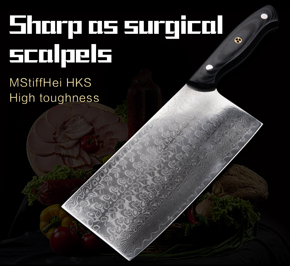 Buy 2016 GHL chef knives high quality fashion Japanese VG10 Damascus steel kitchen knife with Micarta handle Free shipping cheap