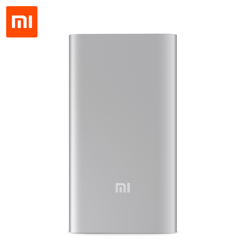 Original Xiaomi Power Bank 5000mAh Mi Portable Charger Slim Powerbank 5000 for iPhone Xiaomi HTC Lenovo Mobile Phones(China (Mainland))