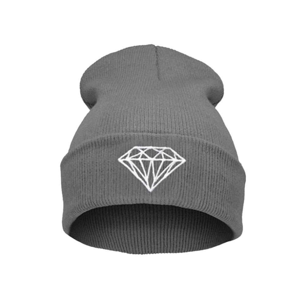 New Hip Hop Men s Men Women Unisex cap With Diamond Pattern Beanies Winter Cotton knit