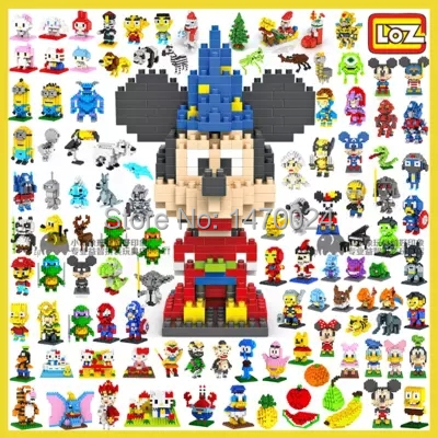 One piece 2015 New LOZ Block Diamond Building Blocks Action Figure 3D Bricks Toys / learning Education toys without box for gift(China (Mainland))