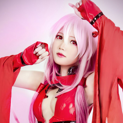 Guilty Crown  Inori Yuzuriha  Costume Cosplay Wig Synthetic Long Wavy Hair Wigs Ombre Color Pink to Purple   Perruque Longa<br><br>Aliexpress