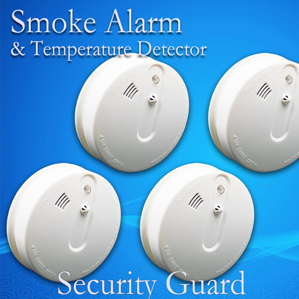 free shipping hot selling new 433 wireless heat alarm smoke fire alarm 2 years warranty. Black Bedroom Furniture Sets. Home Design Ideas