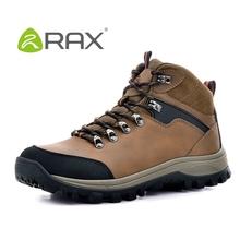 Rax impermeables hombres botas de nieve del cuero genuino de arranque que no antideslizante moda zapatos exterior B936(China (Mainland))