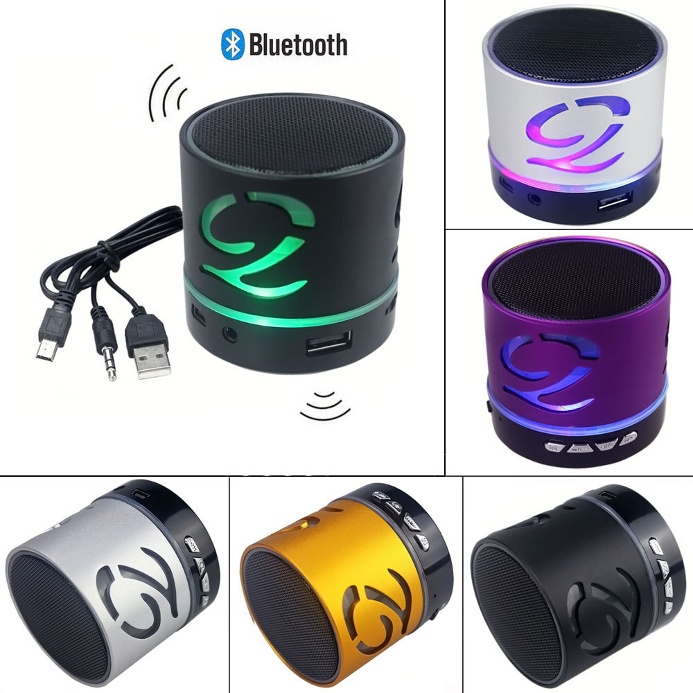 Portable Mini Bluetooth Speaker Hands-free Wireless LED Light Speakers TF AUX USB With Built-in Mic Subwoofer For iphone Samsung(China (Mainland))
