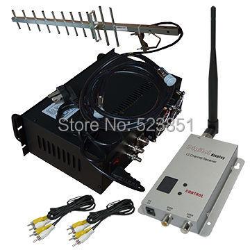 10W High Power Long Range 30KM CCTV Wireless Video Transmitter 4 channels Video Transmission Equipment 1.2G Transmission System(China (Mainland))
