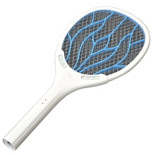 Removable Battery Rechargeable Electric Swatter Pest Control Insect Bug Bat Wasp Zapper Fly Mosquito Killer With LED Lighting(China (Mainland))