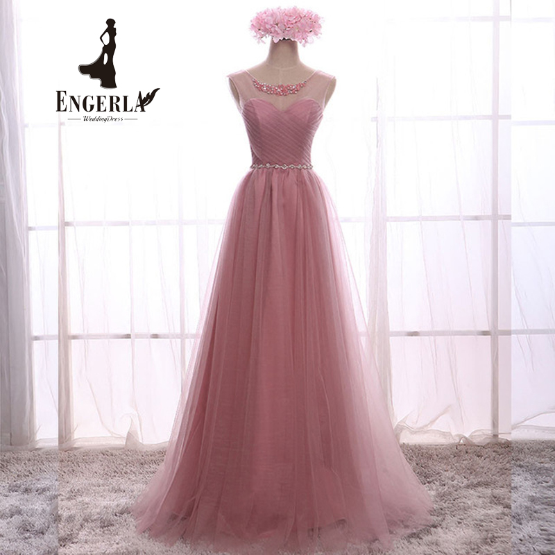 Crystal Lace Long Prom Dress For Party Elegant A Line Special Occasion Dresses Sleeveless Floor Length Lace Up Back Summer Dress(China (Mainland))