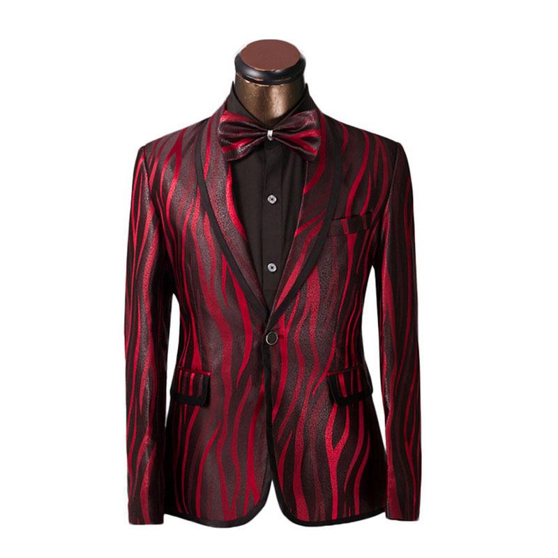 Free shipping 2013 new fashion men s wedding red blazers brand prom