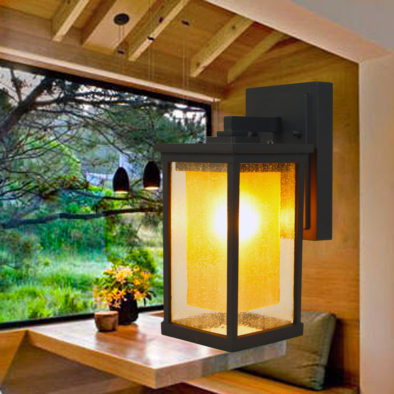 Фотография LED Yard Lighting 220V 8W E27 Wall Mounted Lamp Aluminum Vintage Wall Sconces Outdoor Waterproof  Europe Style High Quality