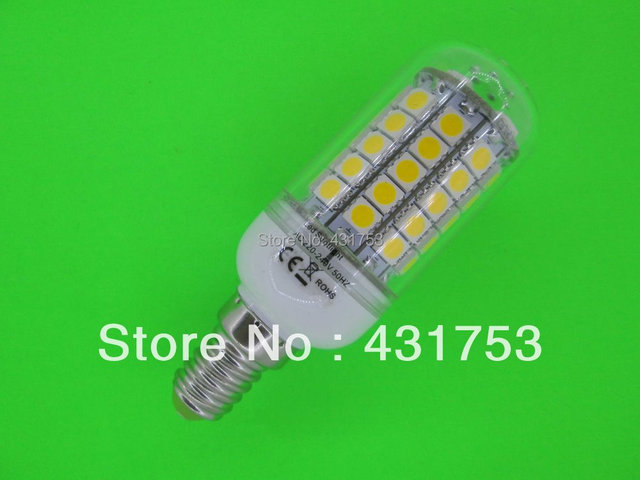E14 Chip 69 LED Cool White Light Bulb Lamp 220V 12W ( High Brightness ) lights for home 5050 SMD