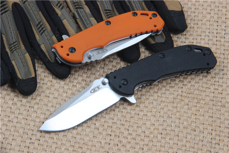 Buy ZT 0566 Folding Tactical Hunting Knife D2 Blade G10 Handle Ball Bearing System 60HRC Outdoor Survival Camping EDC Tool cheap
