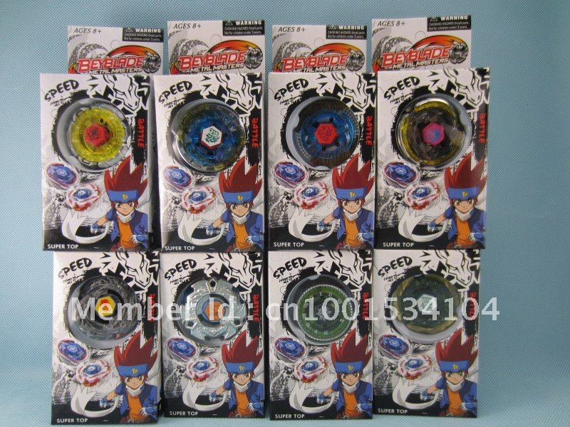 Free shipping bey blade ,spin top ,9pcs/lot 9 model mix(China (Mainland))