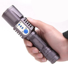 5-Mode Aluminum LED Flashlight Waterproof Lanterna Use 18650 Battery Lamp For Camping Working charge your USB device(China (Mainland))