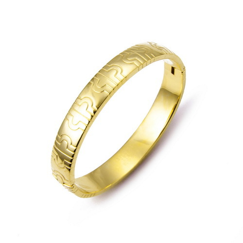 Wholesale Precious 18K Yellow Gold Bangle,Exquisite Handcrafted Bracelet Jewelry For Womens,Open Cuff Bracelet As Christmas Gift(China (Mainland))