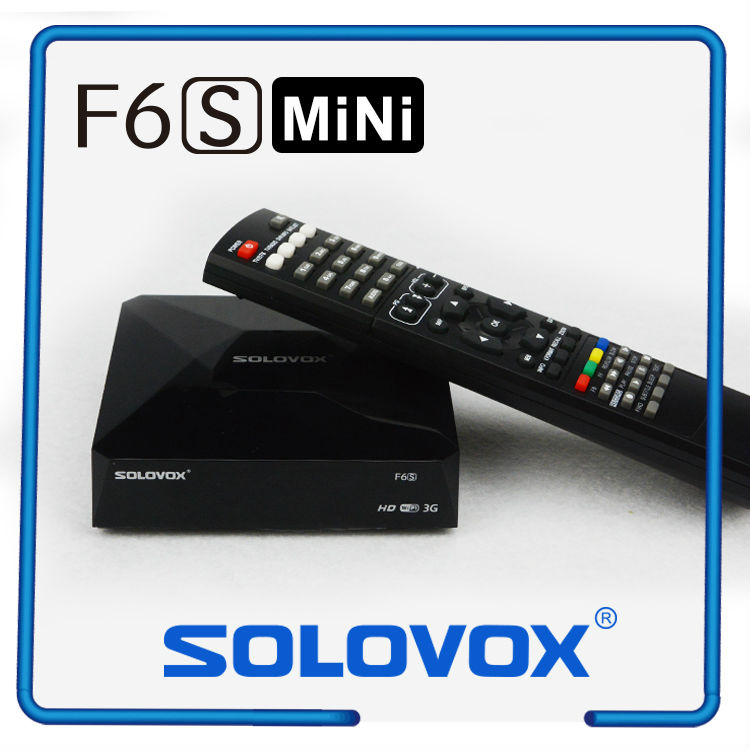 2PCS Free Shipping Original SOLOVOX F6S MINI Box Satellite Receiver TV Box Support 2 USB WEB TV Card Sharing CCCAM Youporn(China (Mainland))