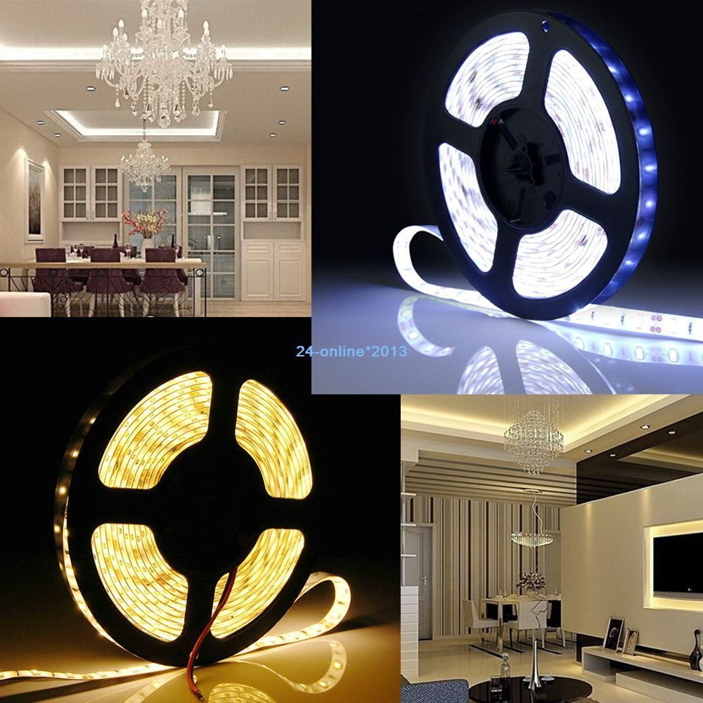 50mt free shipping via FedEx, 5 Meter LED Streifen Leiste Band bander mit 5050-300 SMD LED Warmweiss IP33(China (Mainland))