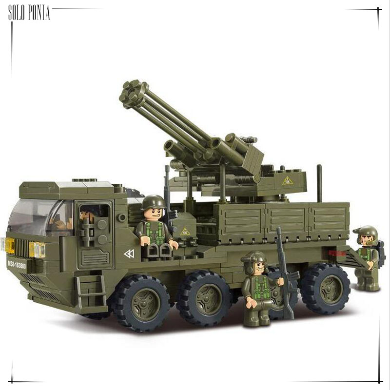 Model building kit compatible with lego military Transport Vehicle 3D block Educational model building toys hobbies 0302(China (Mainland))