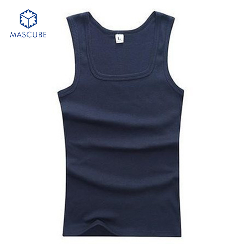 [MASCUBE]Fashion Fitness Mens Sleeveless Shirt Tank Top Men Bodybuilding Clothing Solid Color Sports Vests High Quality(China (Mainland))