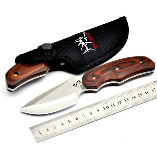 High quality military knife 076 white blade straight camping hunting knives survival fixed blade knife rescue tool free shipping(China (Mainland))
