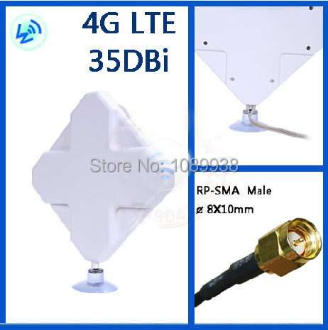 4G antenna 2*SMA connector for HUAWEI ZTE 4G Router/Modem antenna 35DB free shipping(China (Mainland))